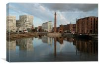 Albert Dock Reflection, Canvas Print