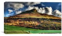 Autumn Gold - Roseberry Topping, Canvas Print