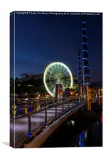 Torquays Wheel, Canvas Print