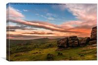 Haytor From Hound Tor., Canvas Print