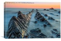 Hartland Quay Sunset., Canvas Print