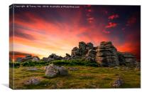 Hound Tor Sunset, Canvas Print