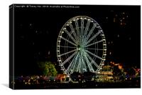 The Torquay Wheel At Night., Canvas Print