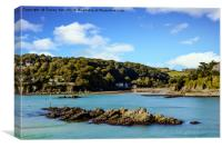 Salcombe Estuary At Low Tide., Canvas Print