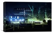 Habour at night, Canvas Print