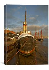 Brent and barge, Canvas Print