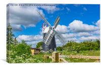Thelnetham Tower mill, Canvas Print