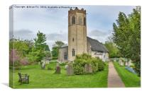 All Saints Church  Old  Buckenham, Canvas Print