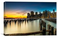 NYC Sunset, Canvas Print