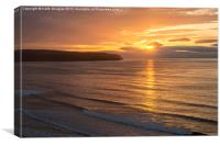 Sunset at Whitby, Canvas Print