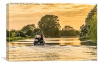 Evening cruise on the river, Canvas Print