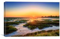 Full Screen Sunrise In Essex, Canvas Print