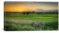 Sunset Over The Green , Canvas Print