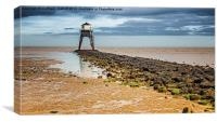 Lighthouse at Low Tide , Canvas Print