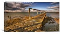 At the end of the jetty , Canvas Print