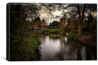Tranquil Goring on Thames, Canvas Print