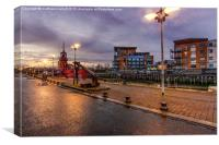 Hythe Quay Dusk View in Colchester 1, Canvas Print