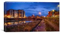 Hythe Quay Dusk View in Colchester 2, Canvas Print