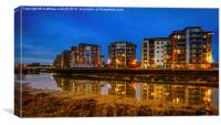 Hythe Quay Dusk View in Colchester 3, Canvas Print