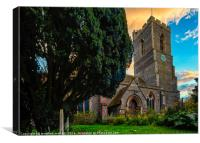 Church Of Lower Kirby, Canvas Print