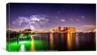 Storm Behind Clearwater Beach Florida, Canvas Print