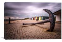 Nautical Outlook from Harwich Beach Huts, Canvas Print