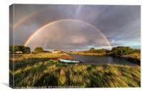 September Rainbow Over Beaumont Essex, Canvas Print
