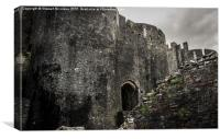 Caerphilly Castle, Wales, Canvas Print