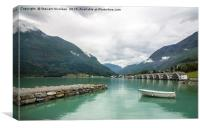 skjolden norway, Canvas Print