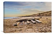 Hemsby Beach, Canvas Print