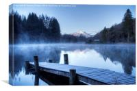 Frosty Loch Ard., Canvas Print