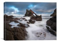 Bow Fiddle Rock, Portnockie., Canvas Print