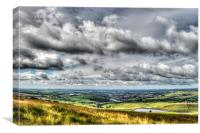 View over Rochdale, Canvas Print