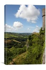 View from Carreg Cennen Castle, Canvas Print