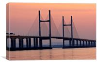 Second Severn Crossing at sunset, Canvas Print