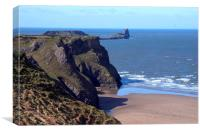 Rhossili and Worms Head Gower, Canvas Print