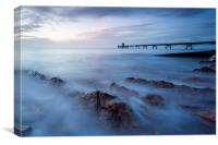Clevedon pier, UK, evening, Canvas Print