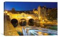 Pulteney Bridge, Bath, UK, evening, Canvas Print