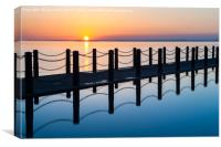Sunset in Weston-Super-Mare, Canvas Print