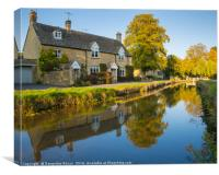 Lower Slaughter, Cotswolds, Canvas Print