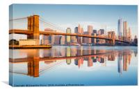 Manhattan bridge at dawn, Canvas Print