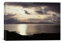 Sunset, Isle of Rhum, Scotland, Canvas Print