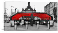 A touch of red in Glasgow, Canvas Print