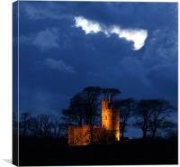 Tawstock Tower and Castle at Night, Canvas Print