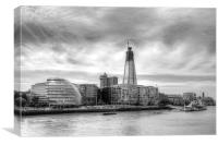 The Shard Under Construction, Canvas Print