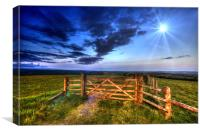 Five Bar Gate With A View, Canvas Print