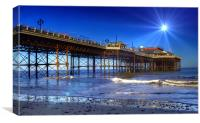 Spotlight on Cromer Pier, Canvas Print