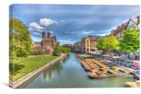 Cambridge Punts, Canvas Print