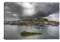 Mevagissey outer harbour Cornwall, Canvas Print