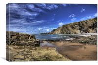 Hartland Quay Deep Blue Sky 7, Canvas Print